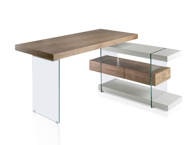 Office desk. Mod. LISBOA WALNUT