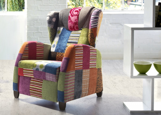 Relax armchair. Mod. KEVIN PATCHWORK RELAX