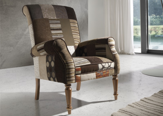 Armchair. Mod. PARIS BROWN