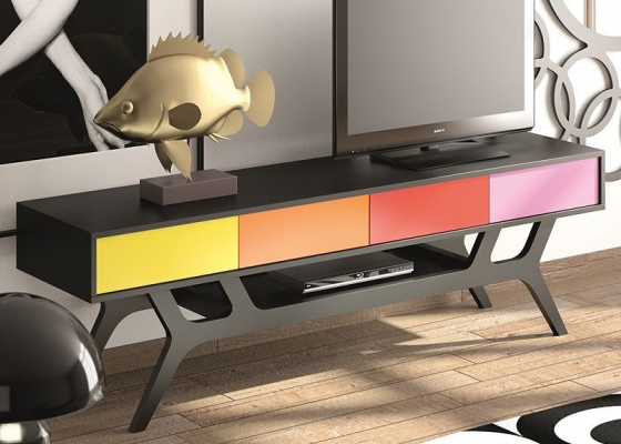 TV stand. Mod. TWIGGY1302
