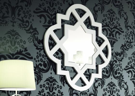 Lacquered and openwork mirror. Mod. YASMIN