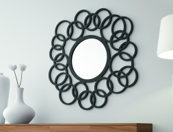 Round lacquered mirror. Mod. GLAM