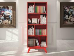 Vintage bookshelf with 8 hollow spaces. Mod. FRIDA