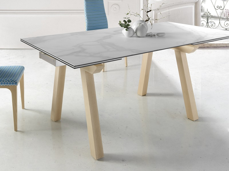 Table manger extensible avec plateau c ramique mod japo for Plateau table extensible