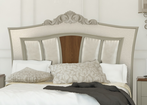 Lacquered and upholstered headboard . Mod. PERLATTO L2169