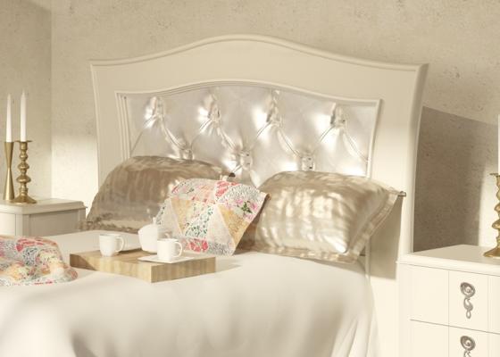 Cabecero lacado y tapizado, mod: PERLATTO L2209