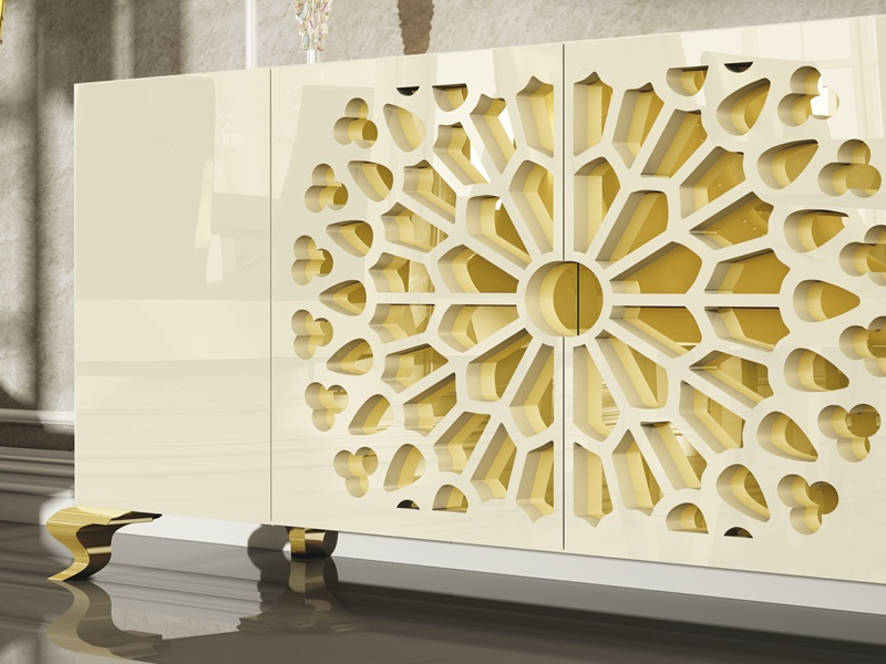 Lacquered sideboard with rosette. Mod. LUXE