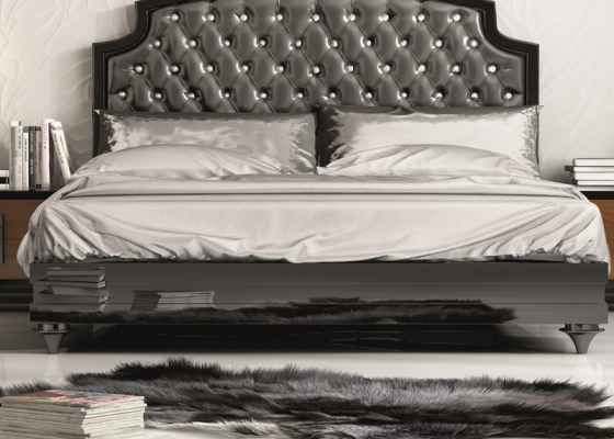 Lacquered bed frame . Mod. MALAK