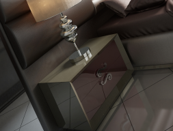 Lacquered bedside tables with  2 drawers. Mod. C302