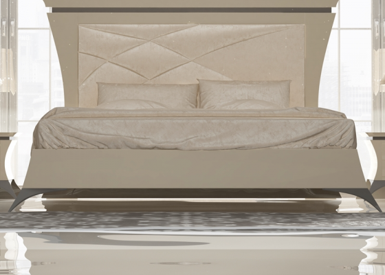 Bed frame  with splayed  legs. Mod.IMPERIAL 73021-12