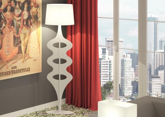 Floor lamp. Mod. DENNI
