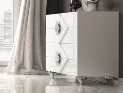 Lacquered chest of  drawers. Mod. DIAMOND
