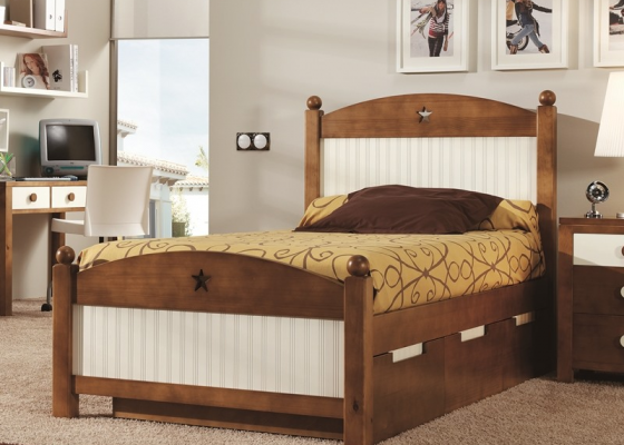Complete child bed with 3 drawers. Mod. MERLIN 8057