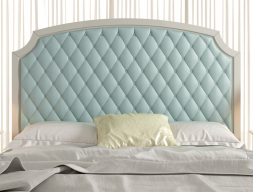 Upholstered and padded headboard. Mod. NP187