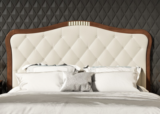 Upholstered and padded headboard. Mod. NP181