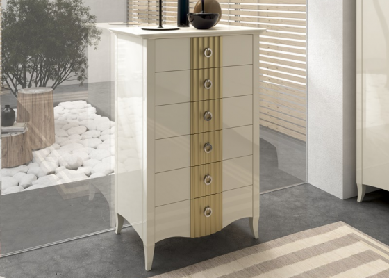 Lacquered chiffonnier. Mod. NP160