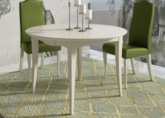 Round extensible dining table. Mod. NP132