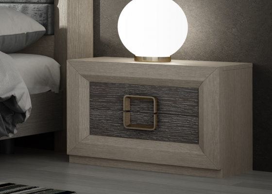 Bedside tables with 2 drawers. Mod. ENZO48814
