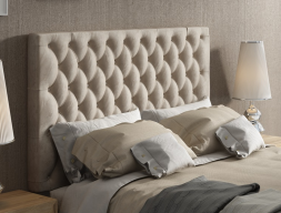 Upholstered and padded headboard with buttons. Mod.  ENZO48851