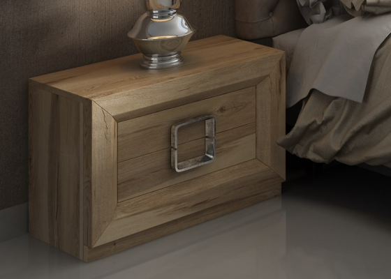 Bedside tables with 2 drawers. Mod. ENZO48813