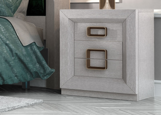 Bedside tables with 3 drawers. Mod. ENZO48821