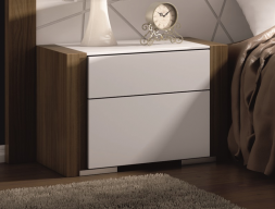 Bedside tables with 2 drawers. Mod. GAMMAGMG2001R