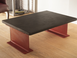Low coffee table with 3 cm thick top. Mod. TOKIO3MM