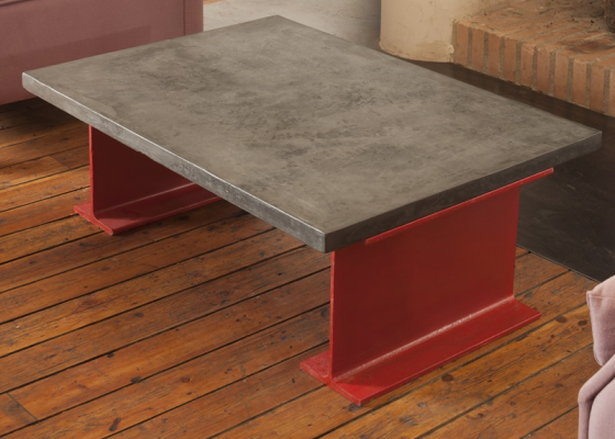 Low coffee table with 6 cm thick top. Mod. TOKIO6MM