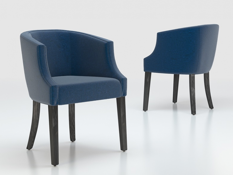 Set of  2 phosltered armchairs. Mod. ENZ48884