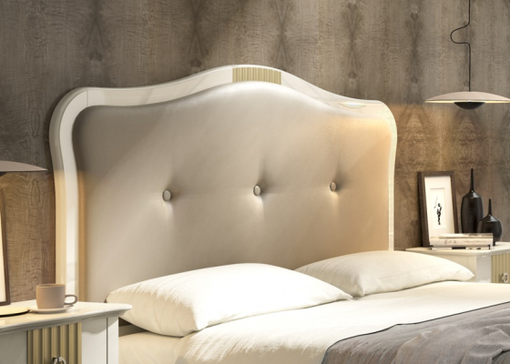 Upholstered and padded headboard. Mod. NP180