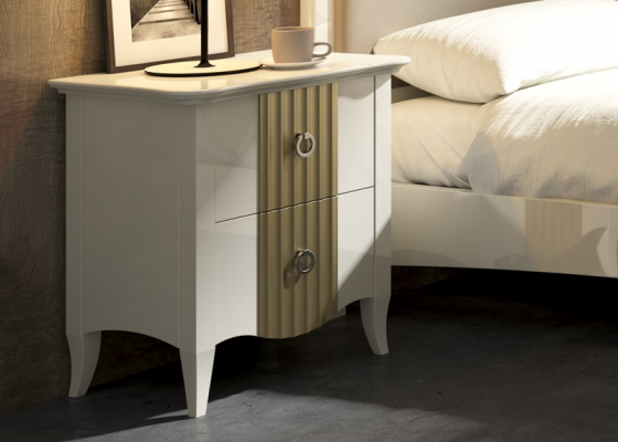 2 bedside table with  2 drawers. Mod. NP150RYD