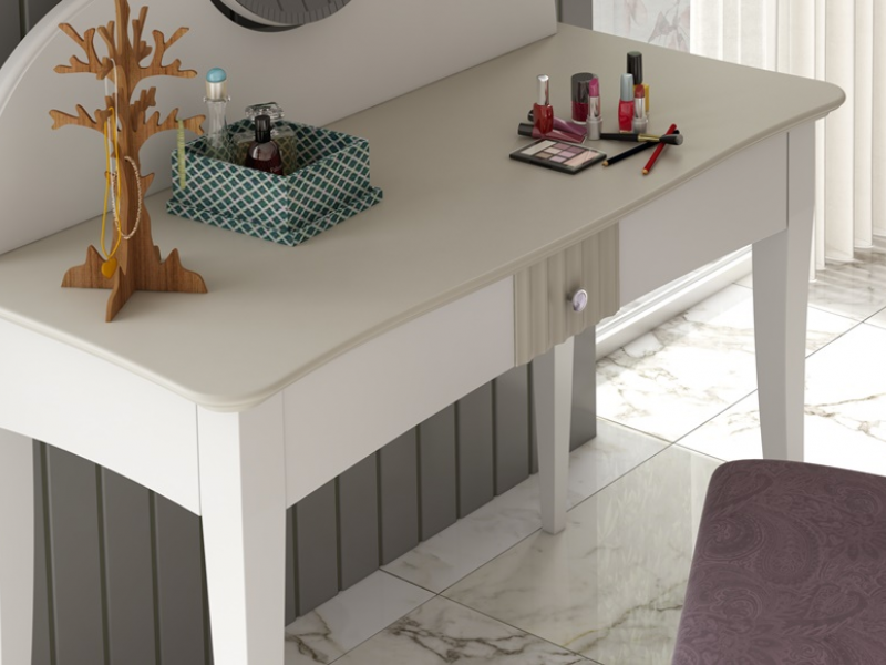 Lacquered vanity table with mirror. Mod. NP174-E
