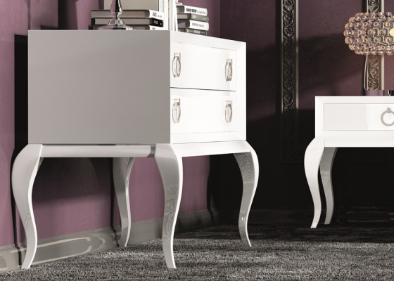 Lacquered chest with 2 drawers. Mod. HANA