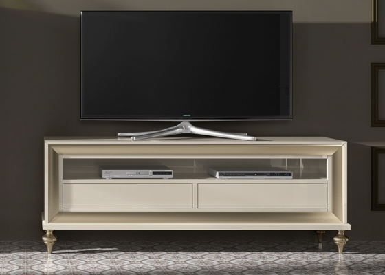 Buck TV with 2 drawers.Mod.GA1140
