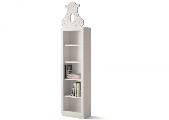 Bookshelf with 5 hollow spaces. Mod. AMSTERDAM 3