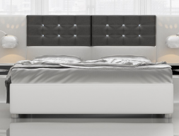 Upholstered bed frame. Mod. KLII76031-3