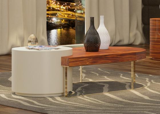 Low coffee table. Mod. BERGEN