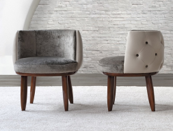 Padded upholstered chair. Mod. MIKOLOGY