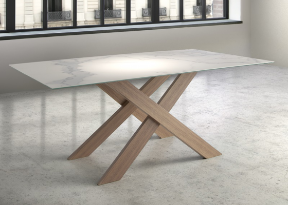 Fix dining table. Mod. ASPEN CERAMIC OAK