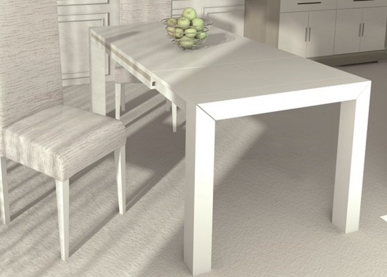 Extensible dining table. Mod. J1000 PERLATTO