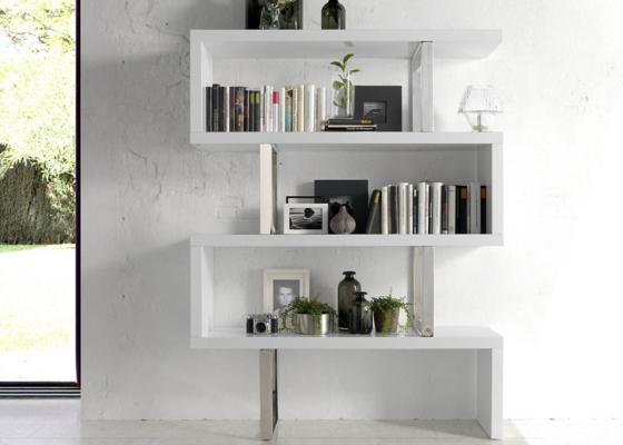 Bookshelves. Mod. CHICAGO WHITE