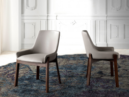 Set of 2 upholstered chairs. Mod. TWIN