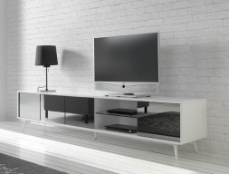 TV stand. Mod. MICHIGAN WHITE