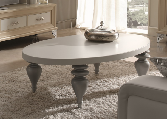 Lacquered oval coffee table, mod: GA9385