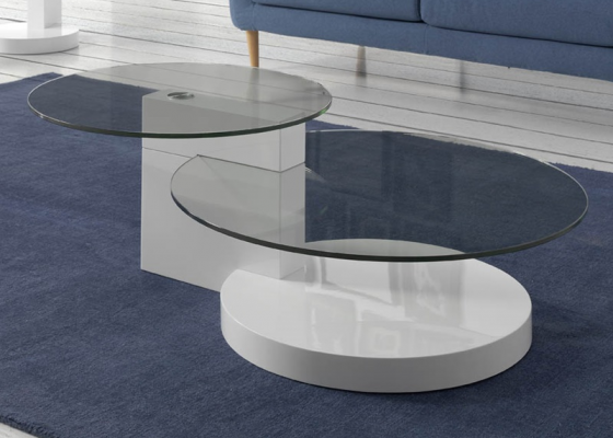 Coffee table, mod: LEÓN WHITE