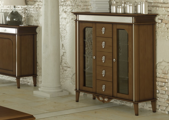 Glass cabinet . Mod.QUEEN V