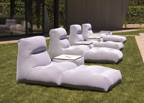 Outdoor chaise longue. Mod. SIT POOL