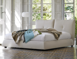 Complete upholstered bed with storage. Mod. TREVISSO