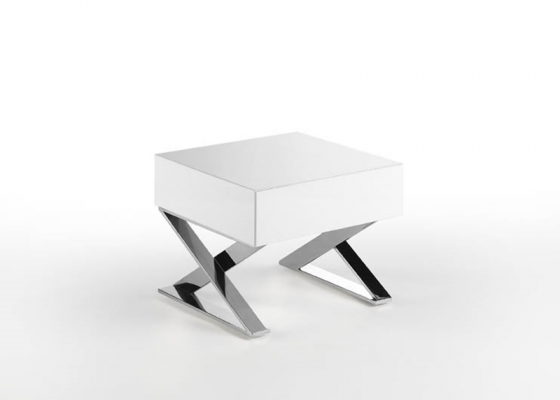 Bedside tables with 1 drawer - set of 2 units . Mod. NEO