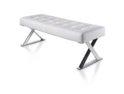 Upholstered bench stool . LARA